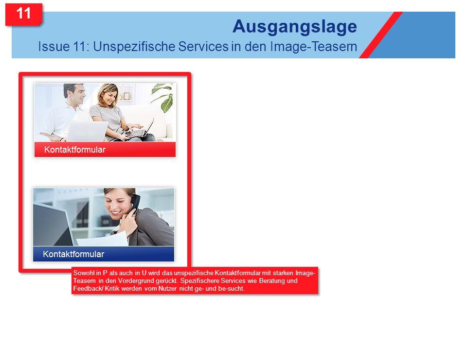 Ausgangslage 11 Issue 11: Unspezifische Services in den Image-Teasern
