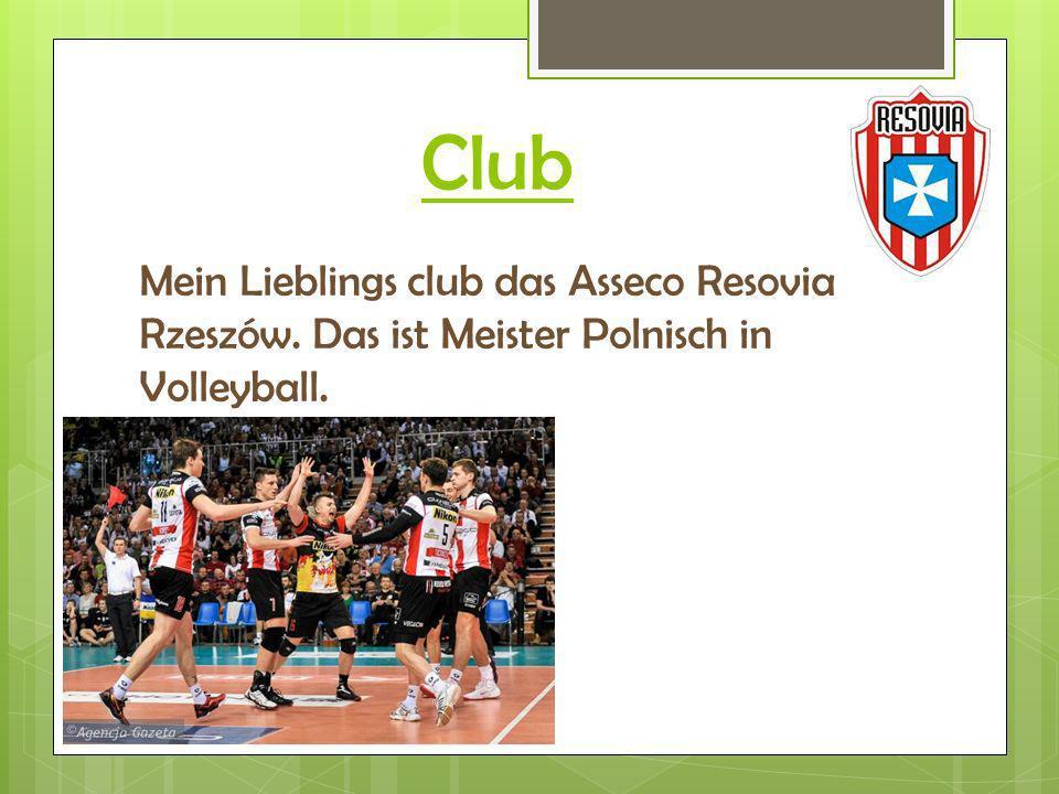 Club Mein Lieblings club das Asseco Resovia Rzeszów. Das ist Meister Polnisch in Volleyball.