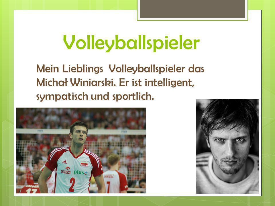 Volleyballspieler Mein Lieblings Volleyballspieler das Michał Winiarski.