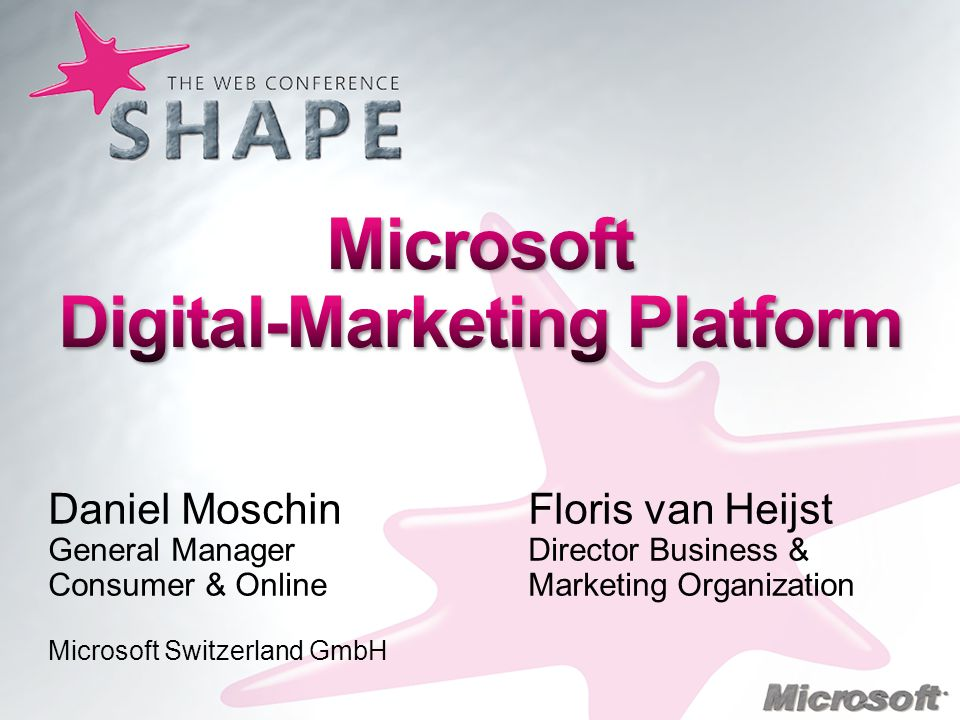 Microsoft Digital-Marketing Platform