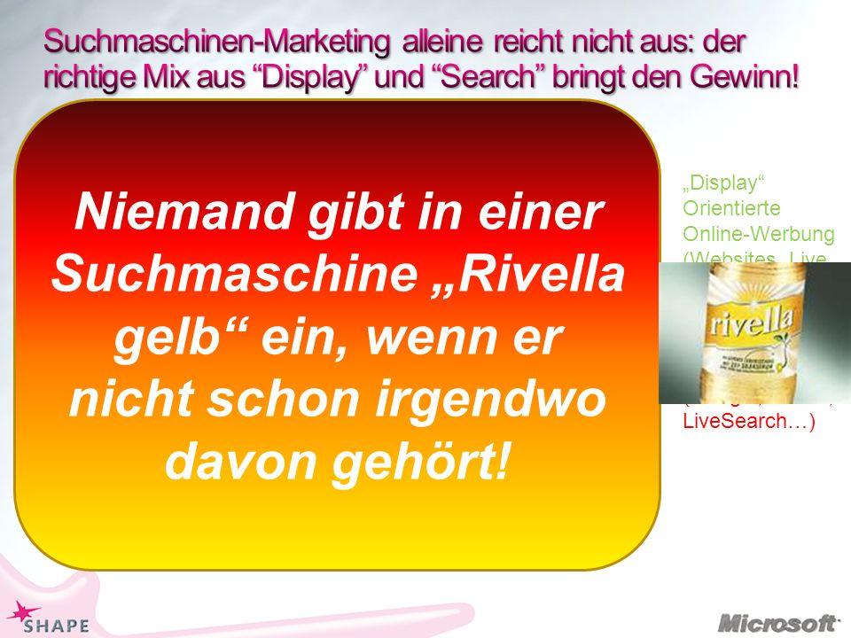Suchmaschinen-Marketing alleine reicht nicht aus: der richtige Mix aus Display und Search bringt den Gewinn!