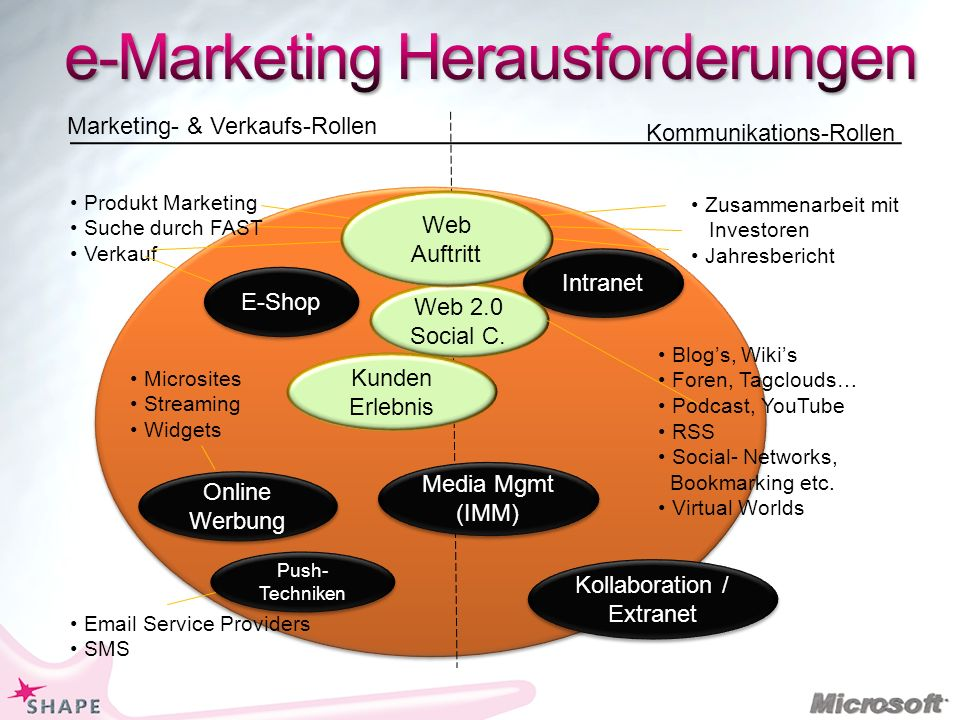 e-Marketing Herausforderungen