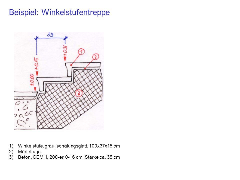 Beispiel: Winkelstufentreppe