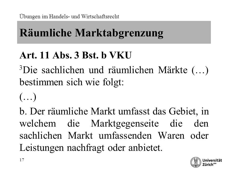 Räumliche Marktabgrenzung