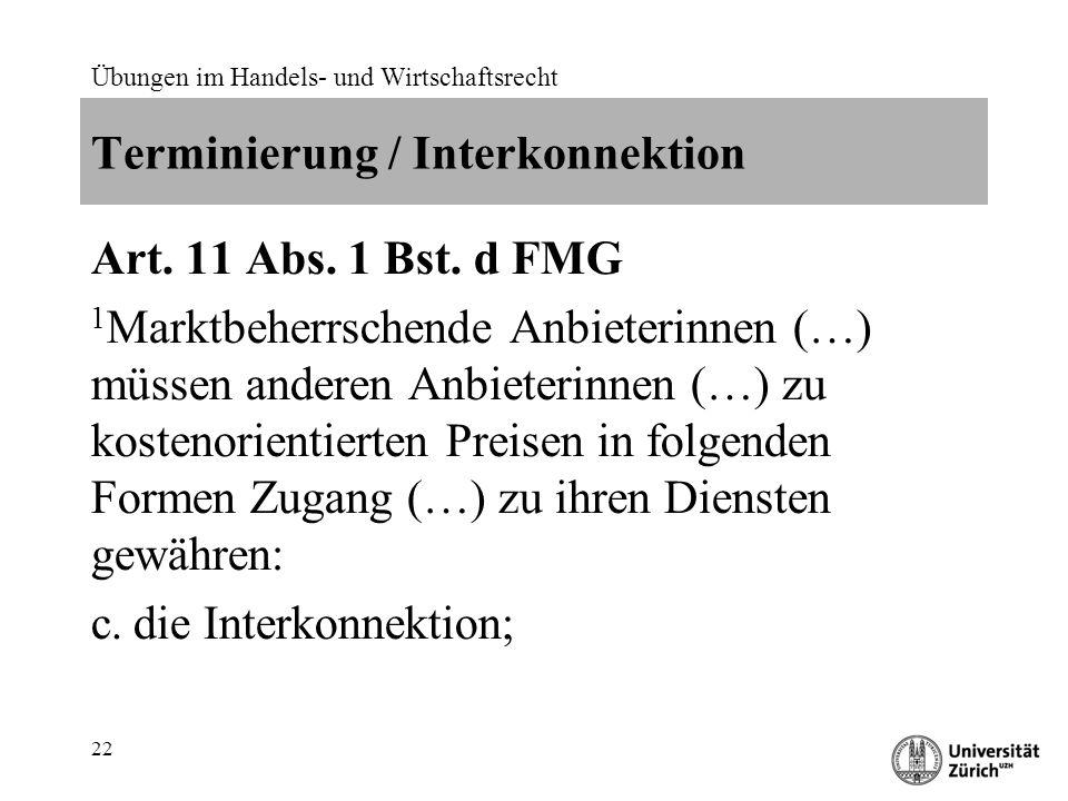 Terminierung / Interkonnektion