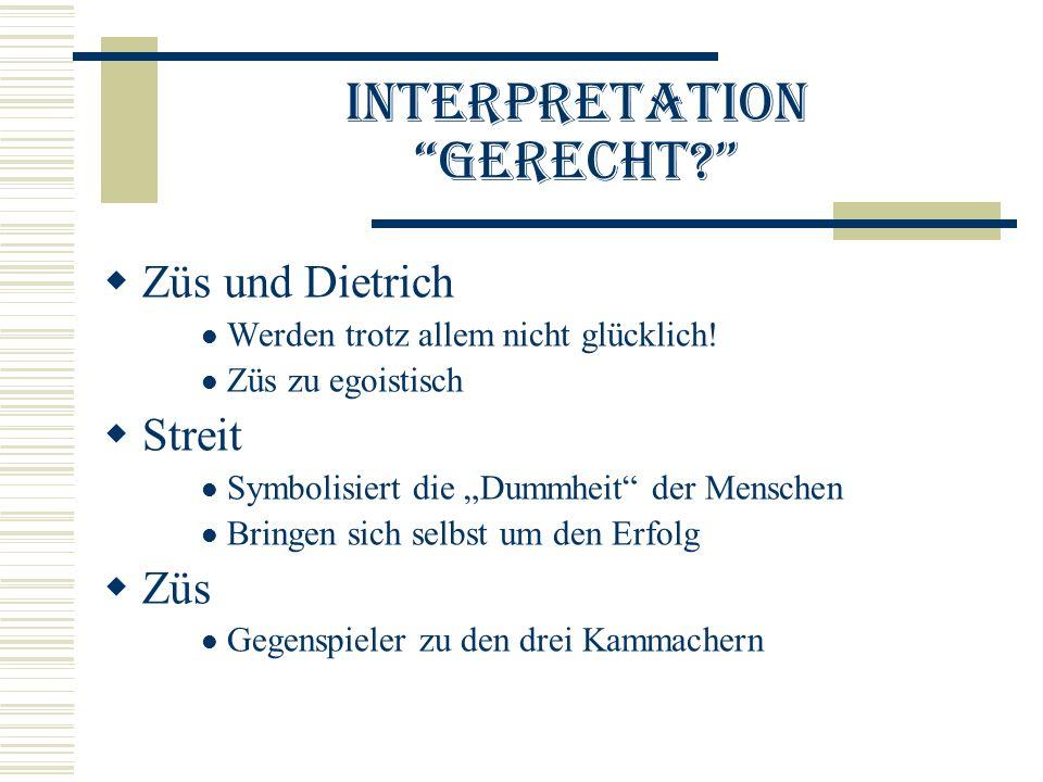 Interpretation Gerecht