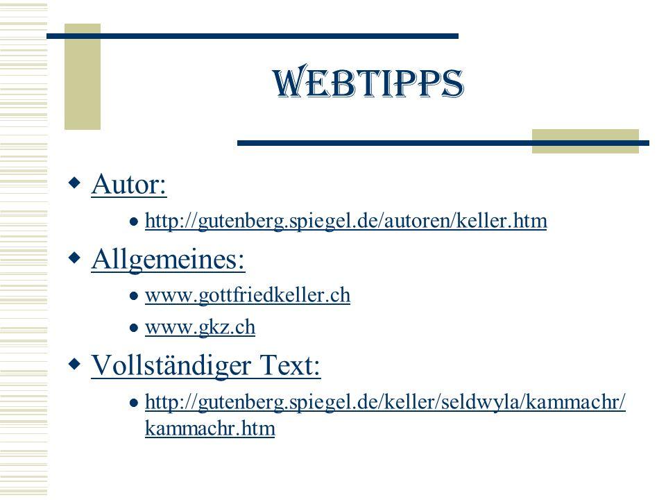 Webtipps Autor: Allgemeines: Vollständiger Text: