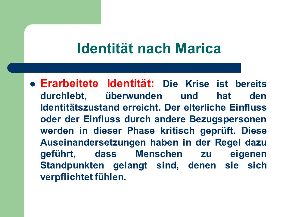 Identität nach Marica