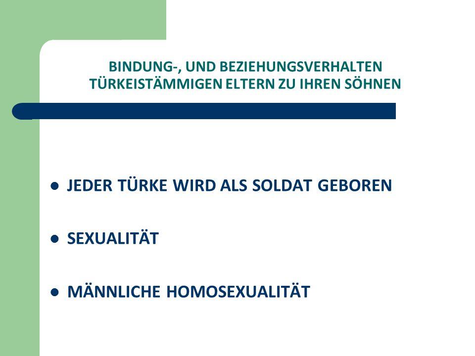 JEDER TÜRKE WIRD ALS SOLDAT GEBOREN SEXUALITÄT