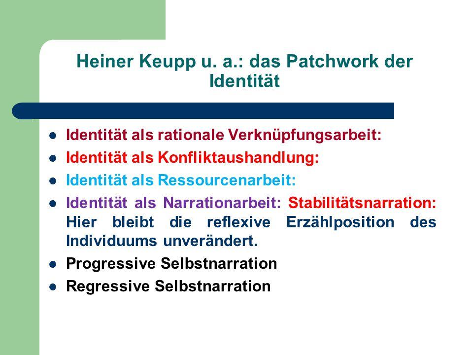 Heiner Keupp u. a.: das Patchwork der Identität