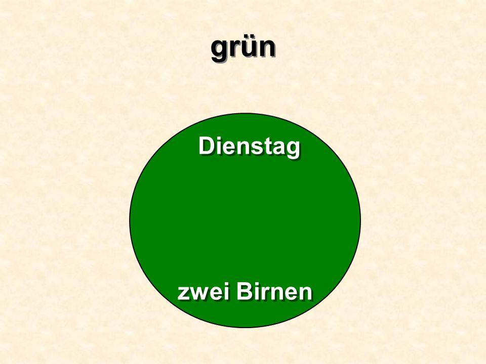 grün Dienstag zwei Birnen