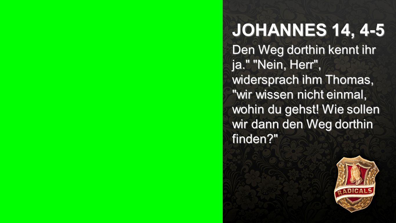 Johannes 14, 4-5 JOHANNES 14, 4-5.