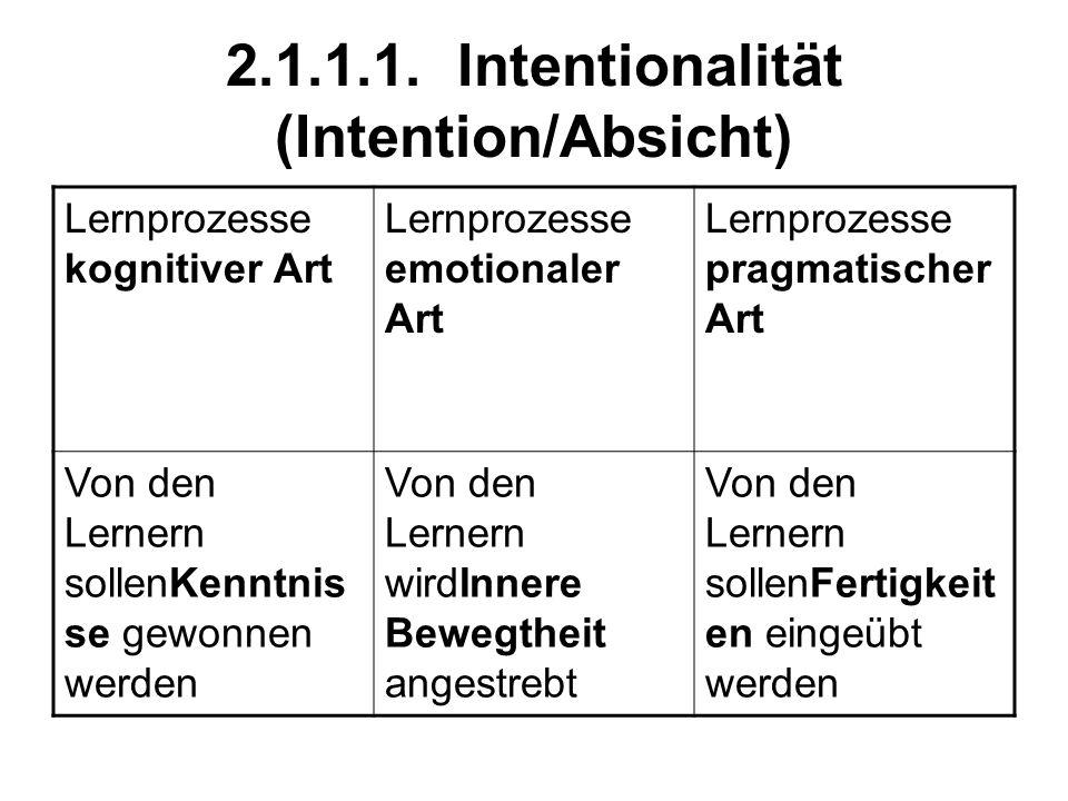 2.1.1.1. Intentionalität (Intention/Absicht)