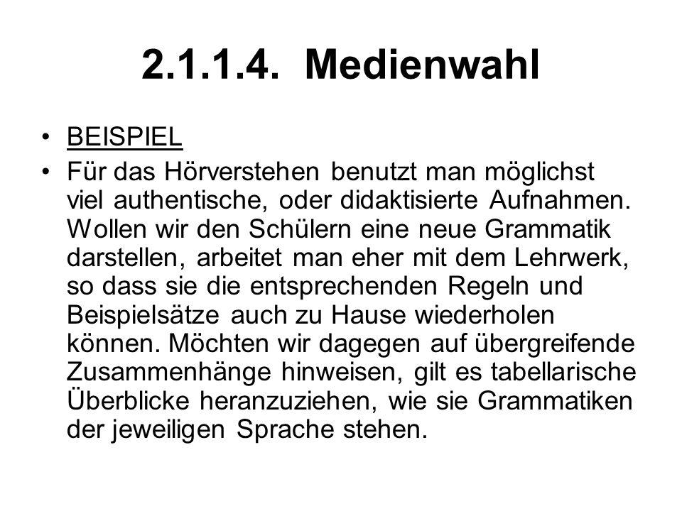2.1.1.4. Medienwahl BEISPIEL.