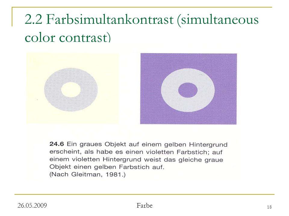 2.2 Farbsimultankontrast (simultaneous color contrast)