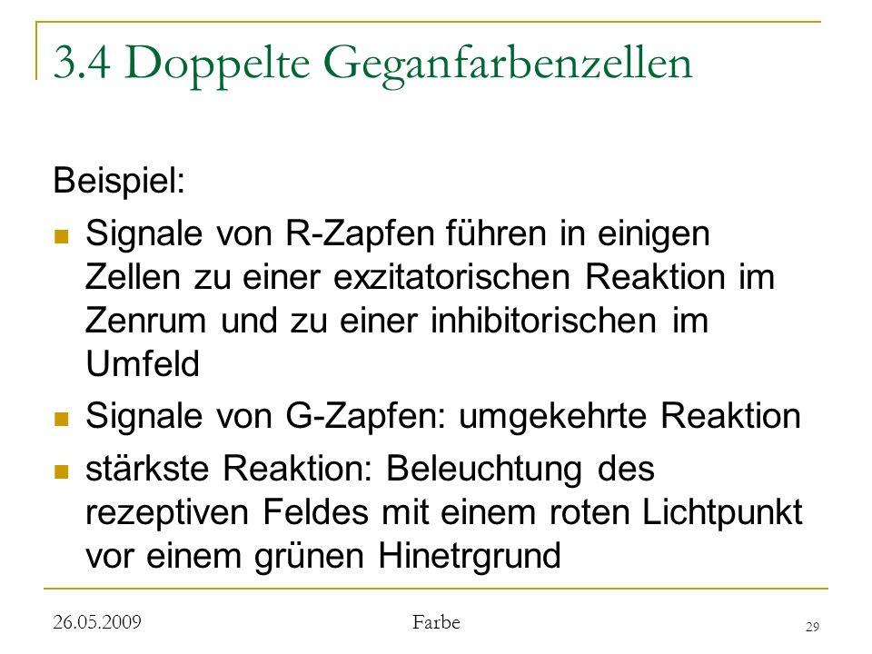 3.4 Doppelte Geganfarbenzellen
