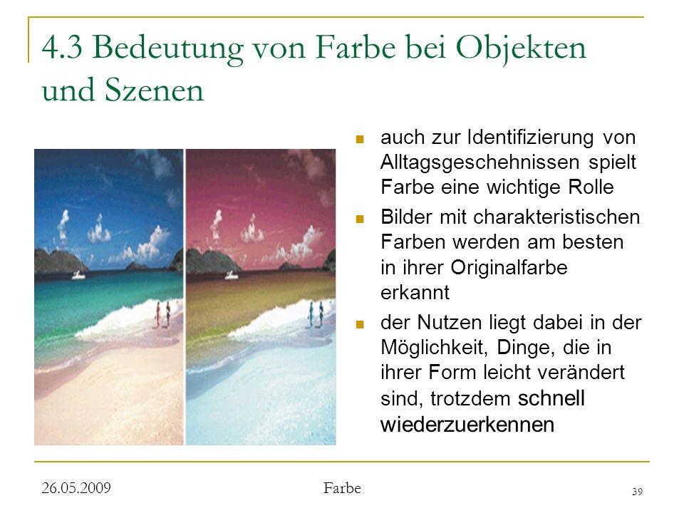 4.3 Bedeutung von Farbe bei Objekten und Szenen