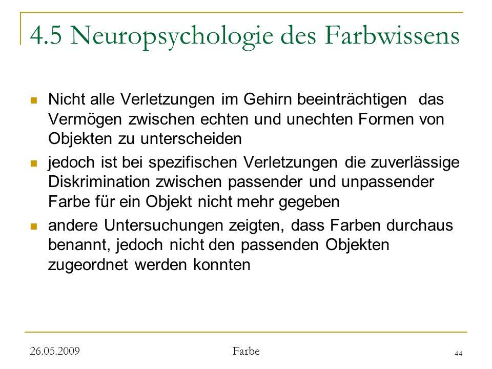 4.5 Neuropsychologie des Farbwissens