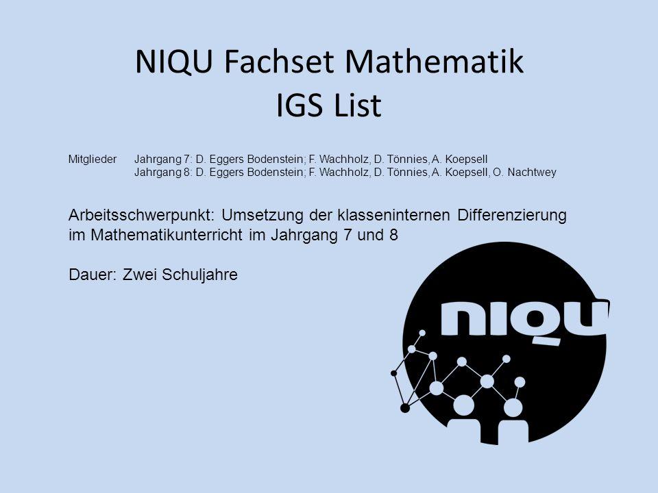 NIQU Fachset Mathematik IGS List