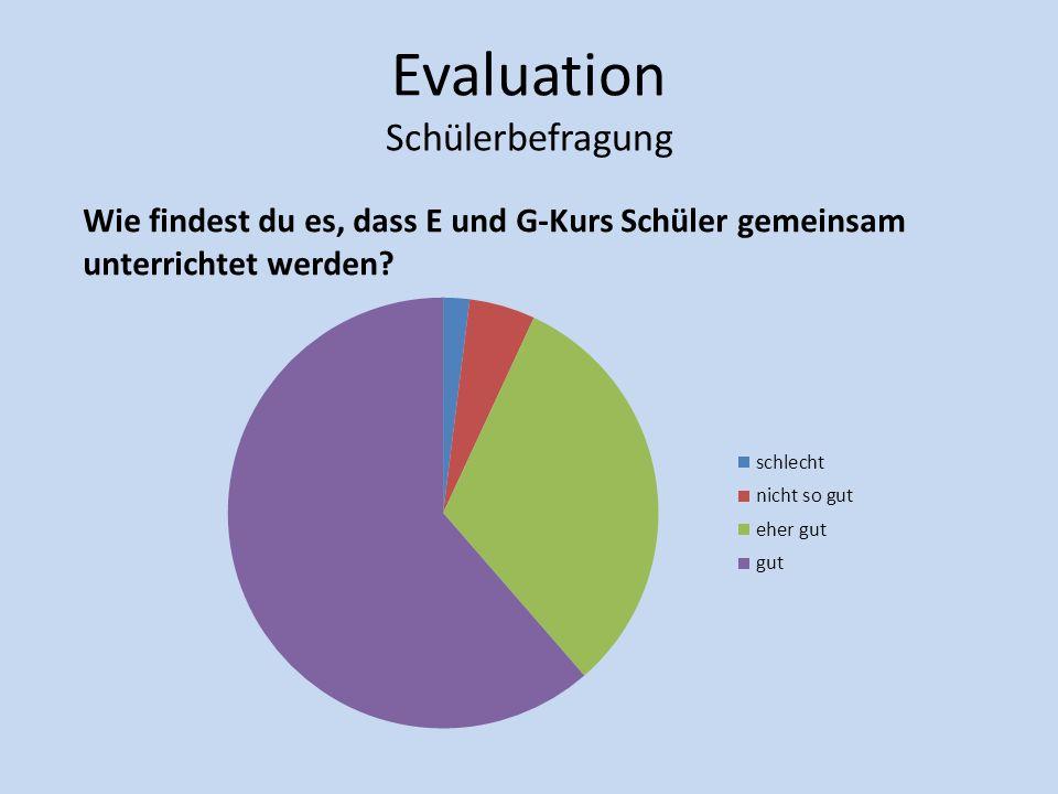 Evaluation Schülerbefragung