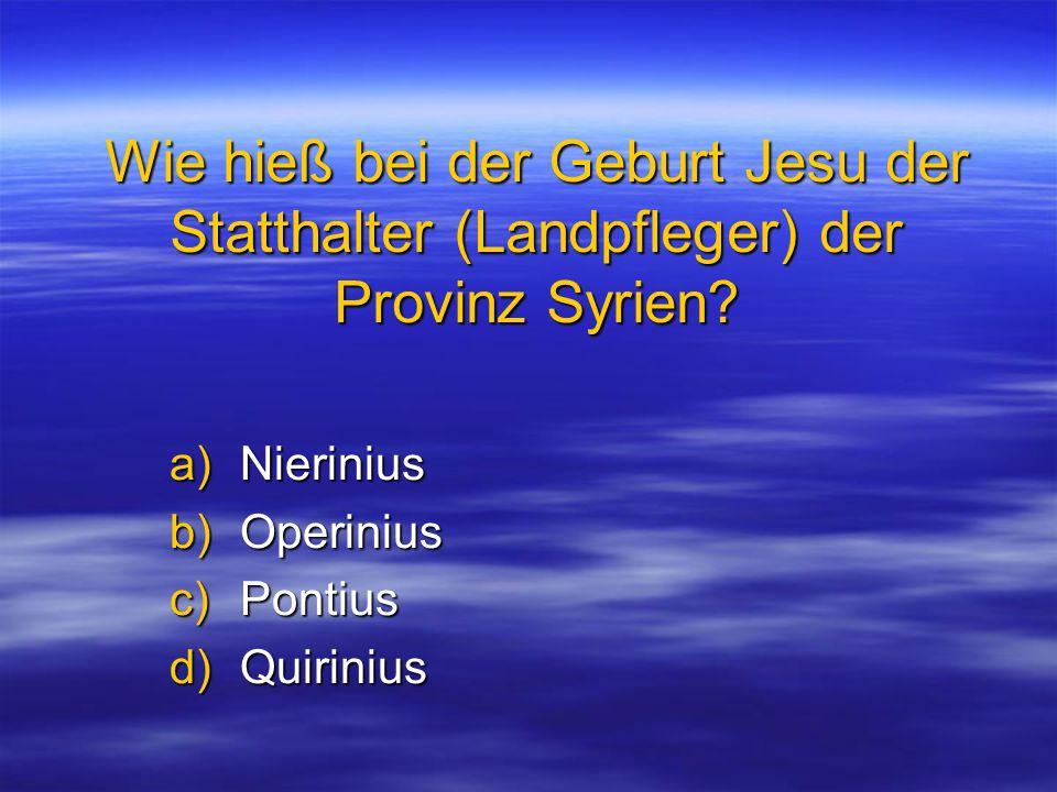 Nierinius Operinius Pontius Quirinius