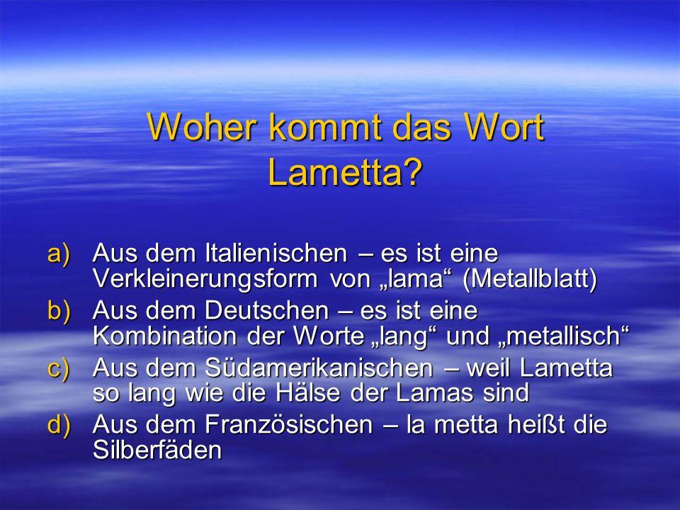 Woher kommt das Wort Lametta