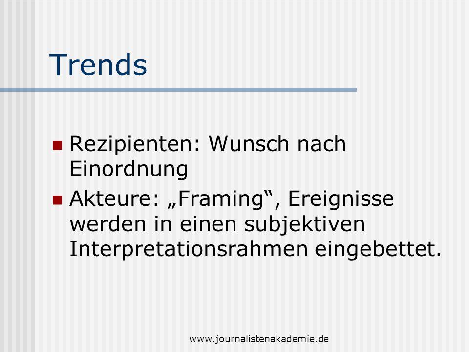 Trends Rezipienten: Wunsch nach Einordnung