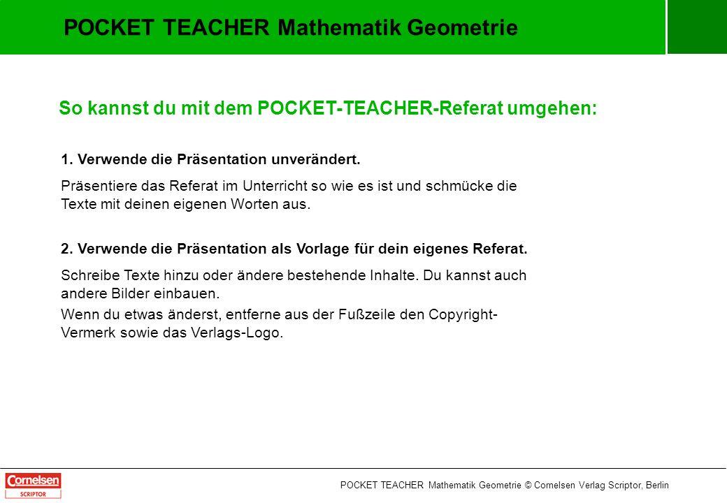POCKET TEACHER Mathematik Geometrie