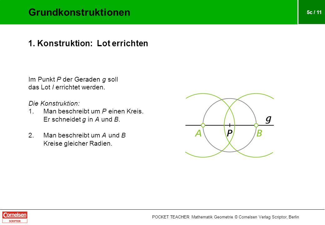 Grundkonstruktionen 1. Konstruktion: Lot errichten