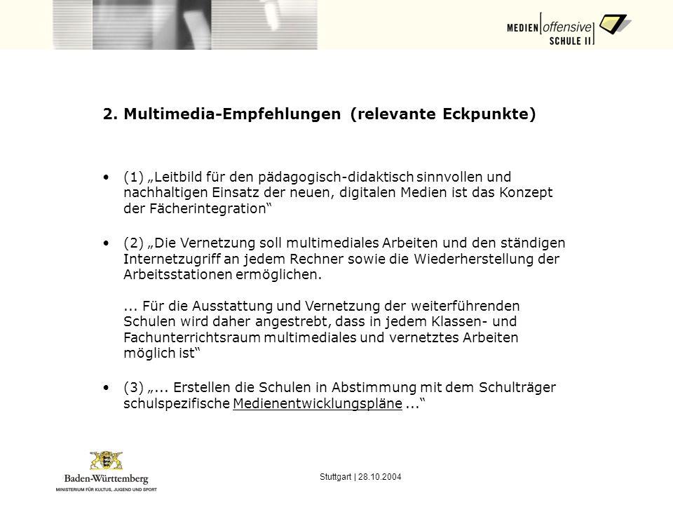 2. Multimedia-Empfehlungen (relevante Eckpunkte)