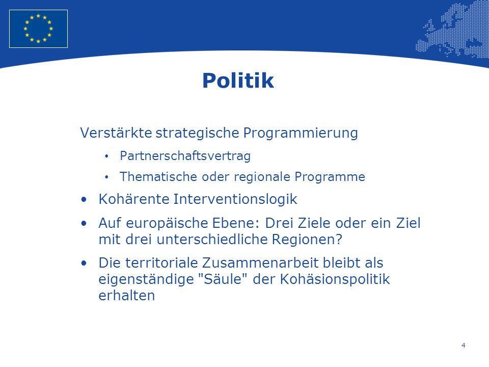 Politik Verstärkte strategische Programmierung