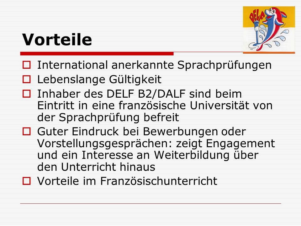 Vorteile International anerkannte Sprachprüfungen