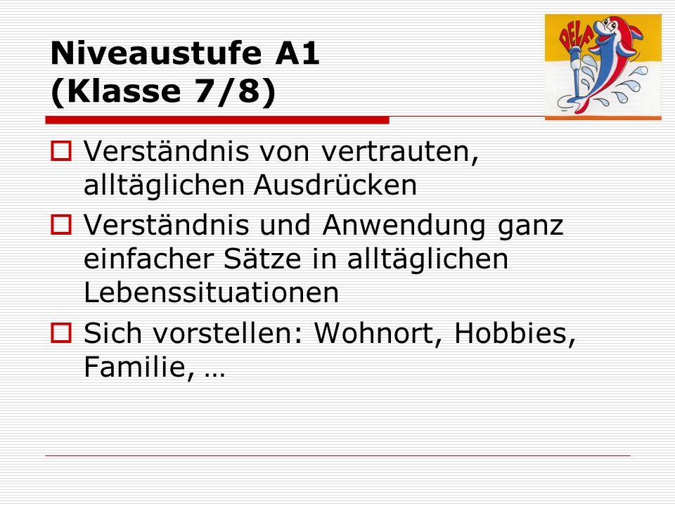 Niveaustufe A1 (Klasse 7/8)