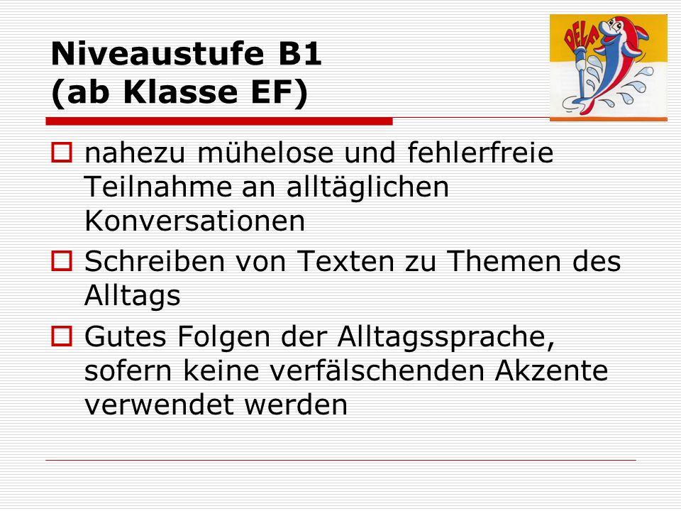 Niveaustufe B1 (ab Klasse EF)