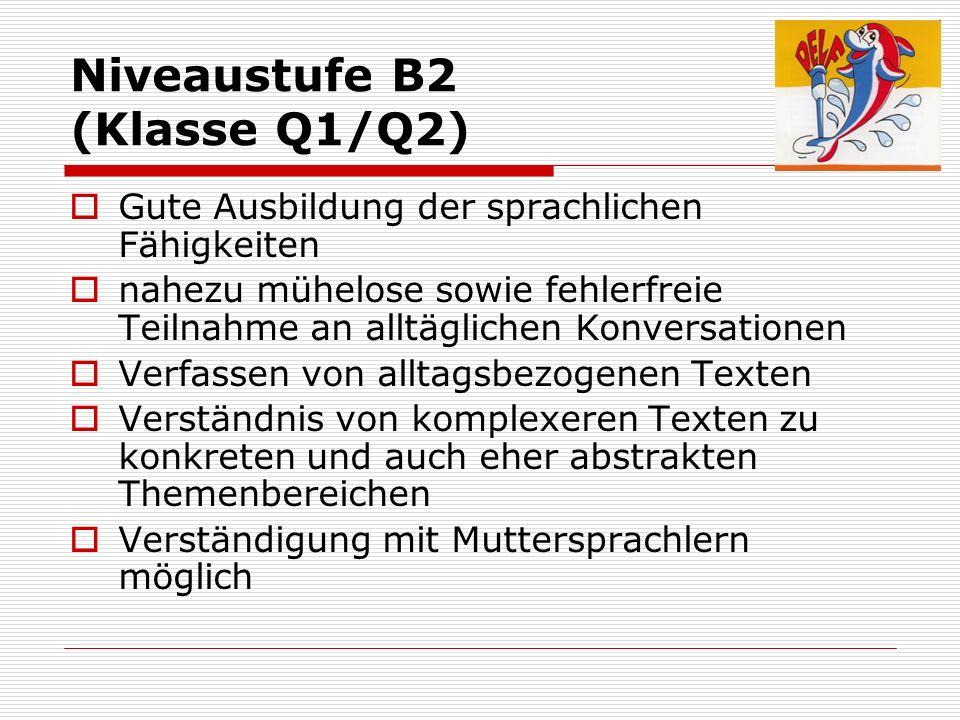 Niveaustufe B2 (Klasse Q1/Q2)