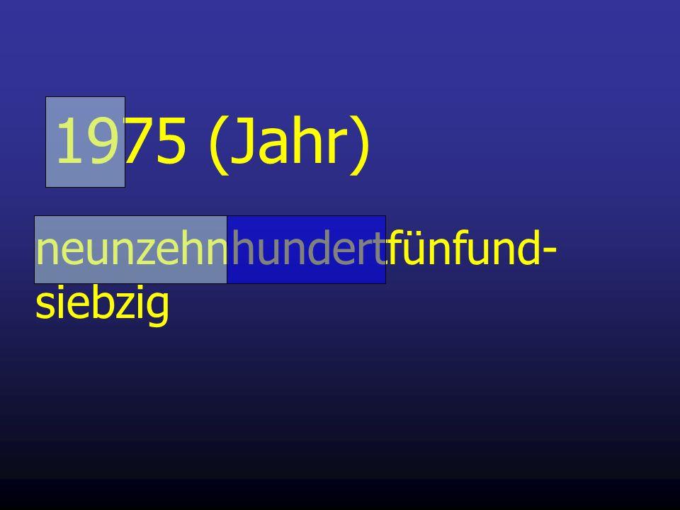 1975 (Jahr) neunzehnhundertfünfund-siebzig