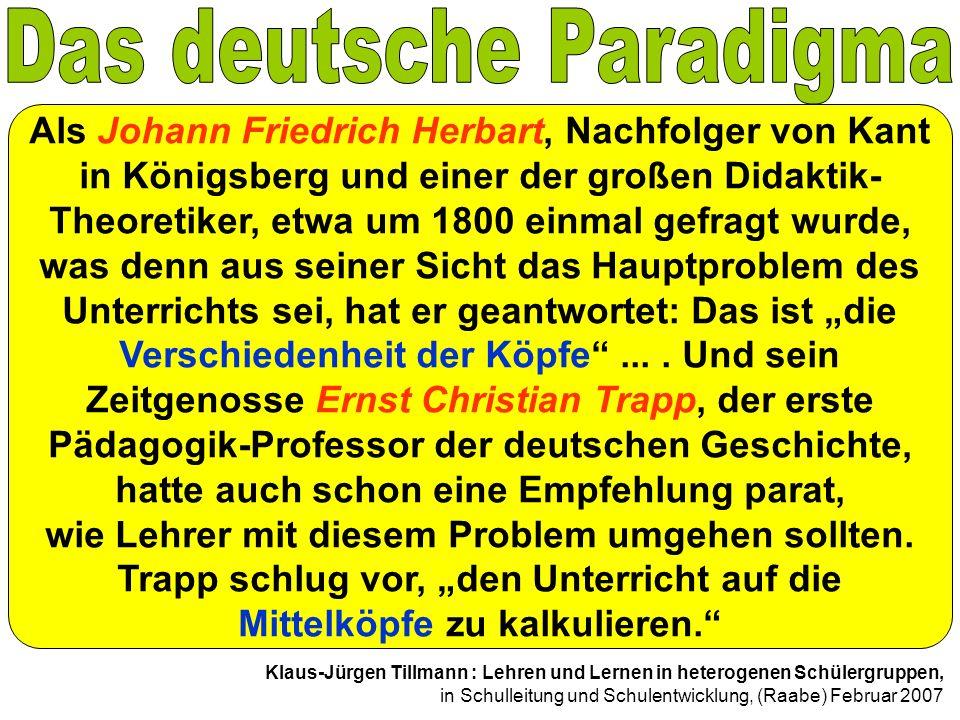 Das deutsche Paradigma