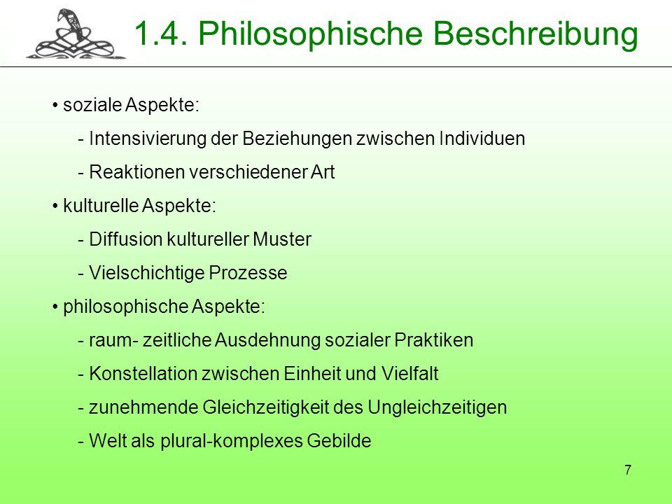 1.4. Philosophische Beschreibung