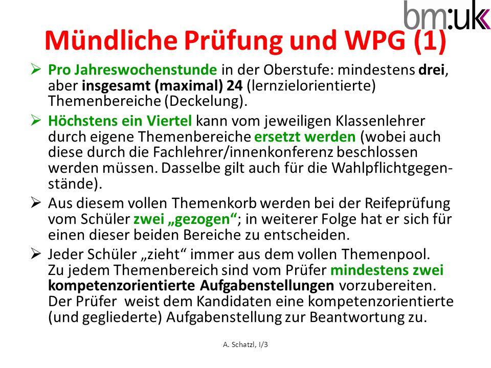 Mündliche Prüfung und WPG (1)