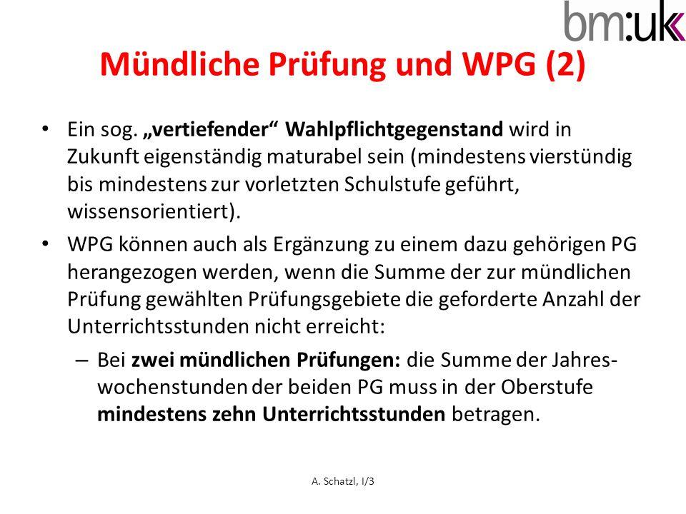 Mündliche Prüfung und WPG (2)