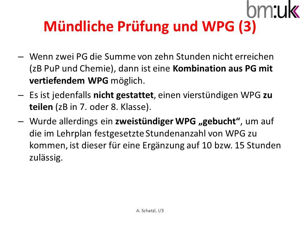 Mündliche Prüfung und WPG (3)