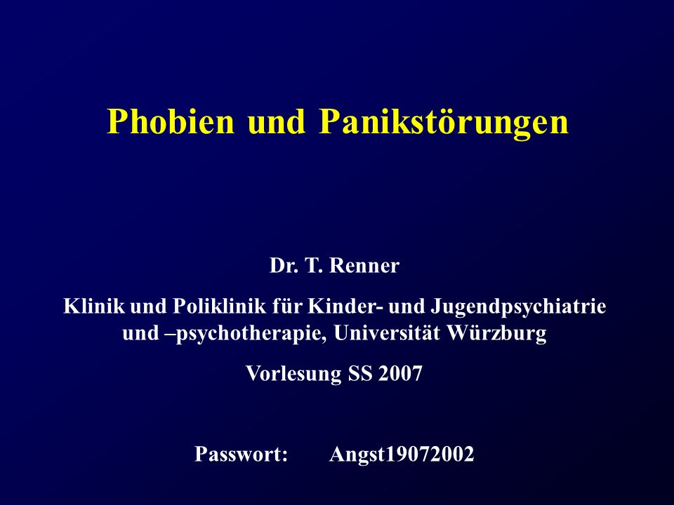 Phobien und Panikstörungen