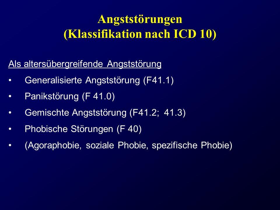 Angststörungen (Klassifikation nach ICD 10)