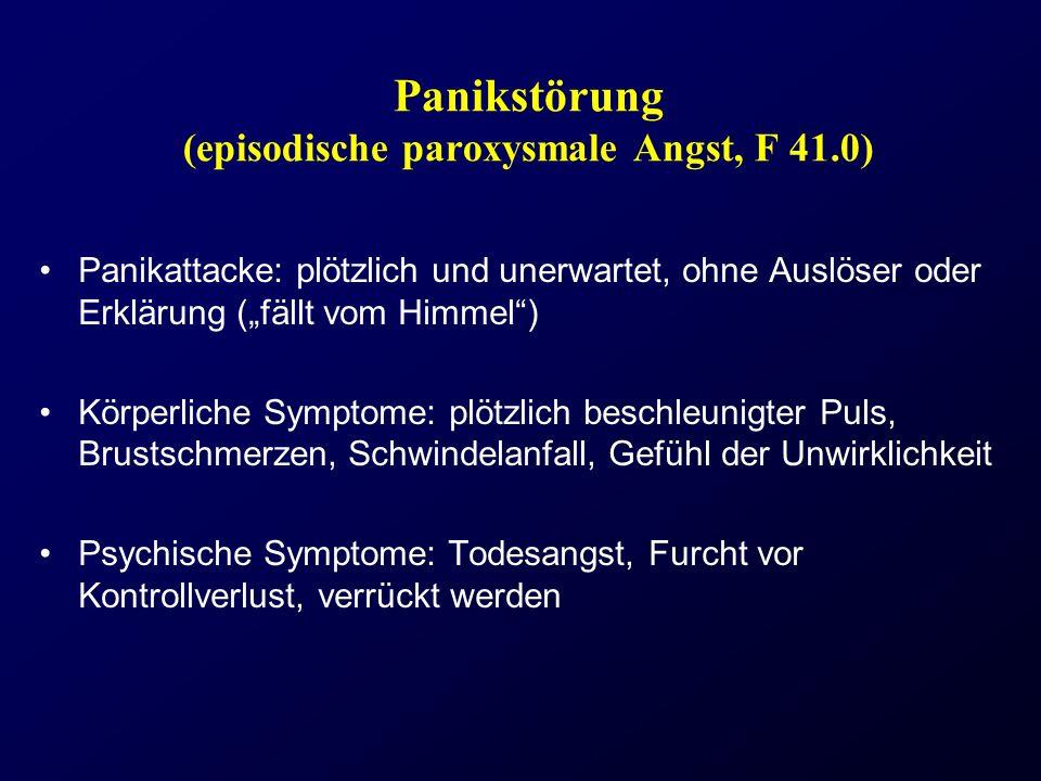 Panikstörung (episodische paroxysmale Angst, F 41.0)