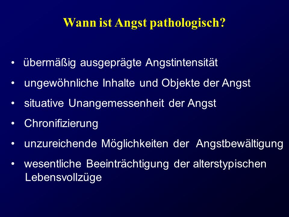 Wann ist Angst pathologisch