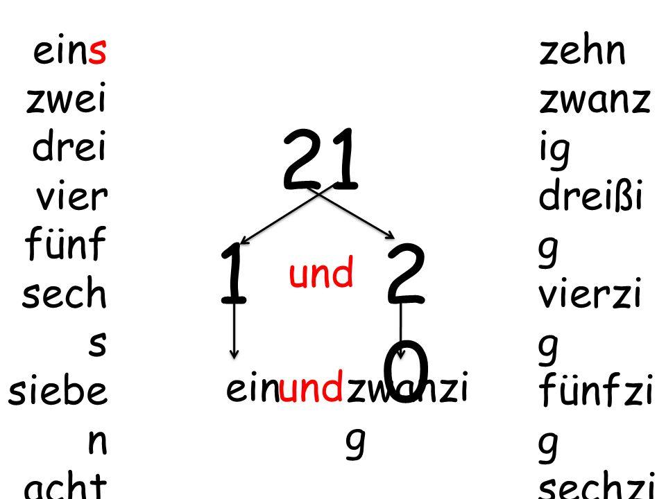 21 1 20 eins zwei drei vier fünf sechs sieben acht neun zehn zwanzig