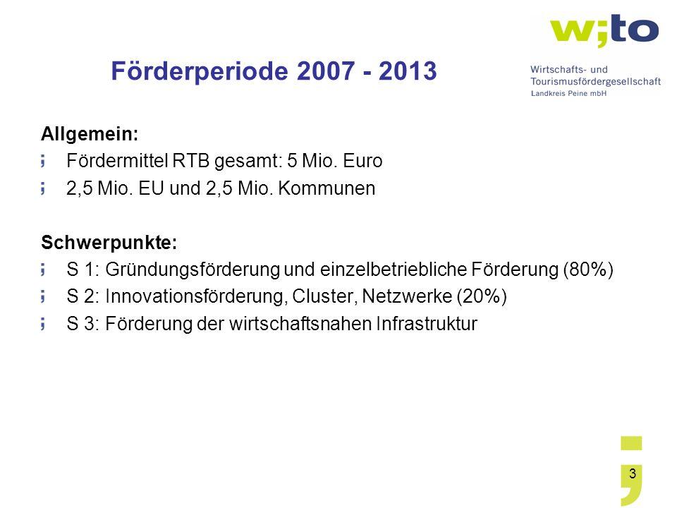 Förderperiode 2007 - 2013 Allgemein:
