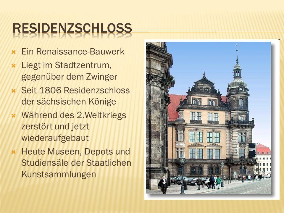 residenzschloss Ein Renaissance-Bauwerk