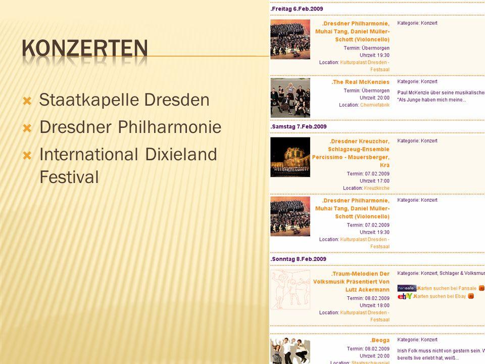 konzerten Staatkapelle Dresden Dresdner Philharmonie