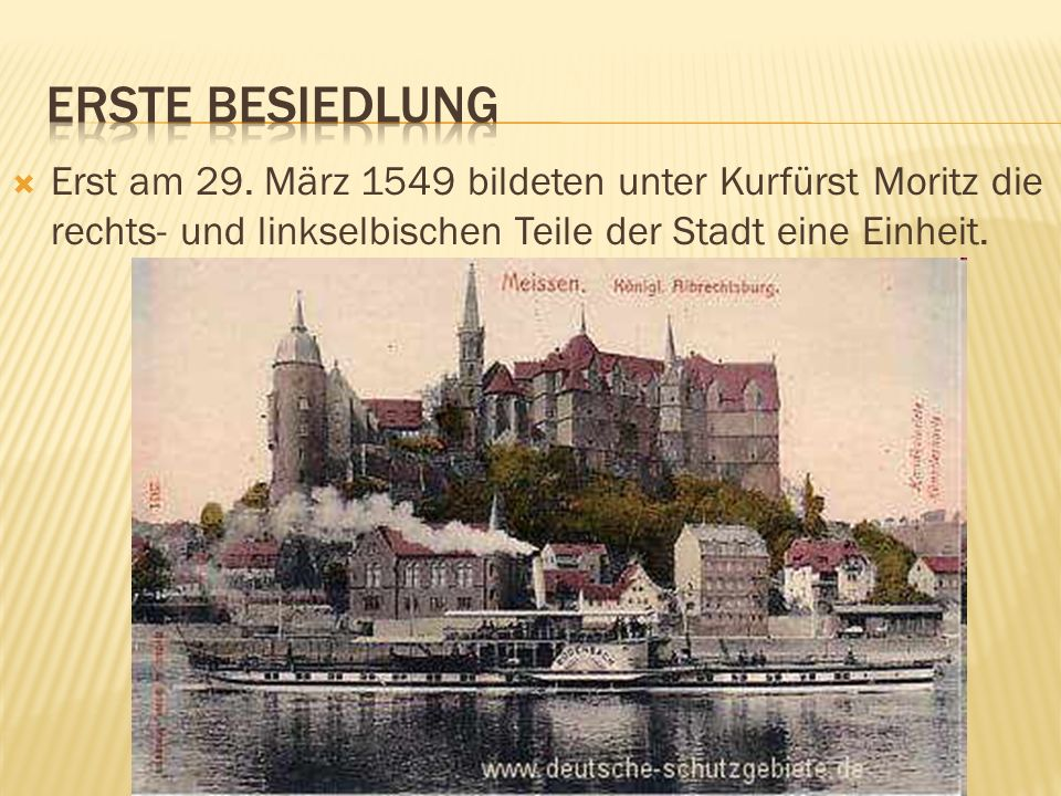 Erste Besiedlung Erst am 29.